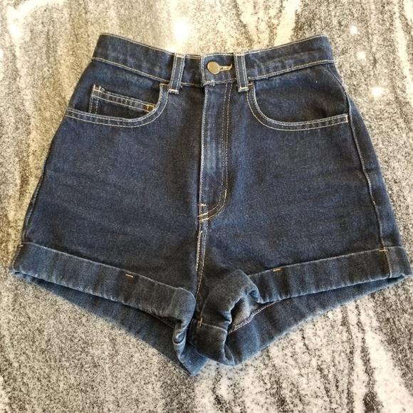 American Apparel Pants - American Apparel High Wasted Denim Short-Short!